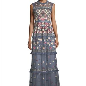 Needle & Thread Embroidered Sleeveless Gown